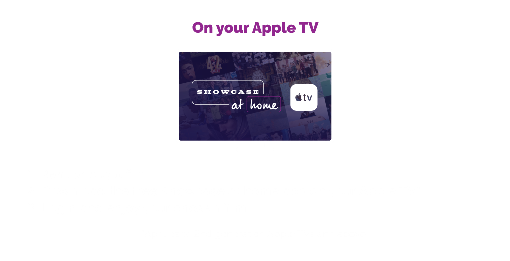 On your Apple TV