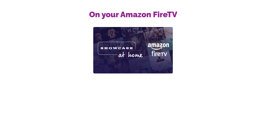 On your Amazon FireTv